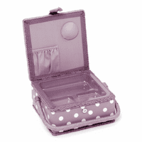 Hobby Gift Sewing Box (S), Square: Mauve Spot